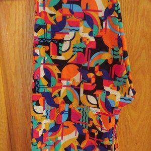 LuLaRoe OS leggings, tropical birds!